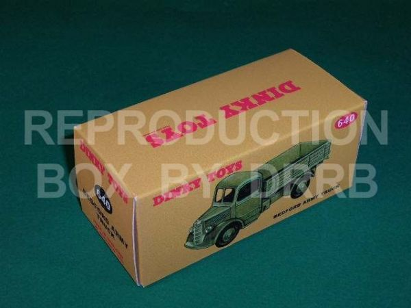 Dinky #640 Bedford Army Truck - Reproduction Box